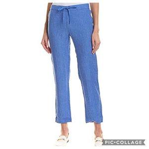 J. McLaughlin Linen Drawstring Pants Blue